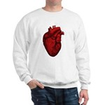 Vintage Anatomical Human Heart Sweatshirt