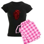 Anatomical Human Heart Women's Dark Pajamas