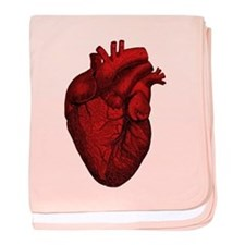 Vintage Anatomical Human Heart baby blanket
