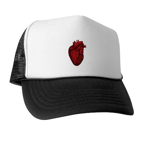 Vintage Anatomical Human Heart Trucker Hat