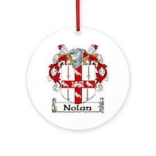 Nolan Coat of Arms Ornament (Round)