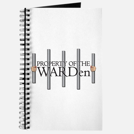 Property Of The Warden Spiral Bound Journal