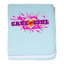 Cave Girl baby blanket