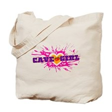 Cave Girl Tote Bag