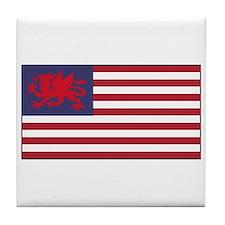 Welsh American Tile Coaster