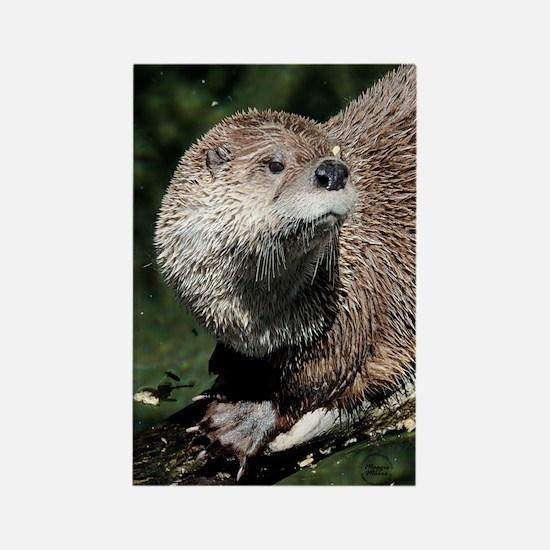 Northern River Otter Rectangle Magnet