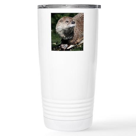 Northern River Otter Stainless Steel Travel Mug