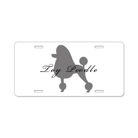 Toy Poodle Aluminum License Plate