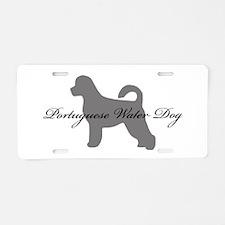 Portuguese Water Dog Aluminum License Plate