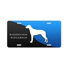 Rhodesian Ridgeback Aluminum License Plate