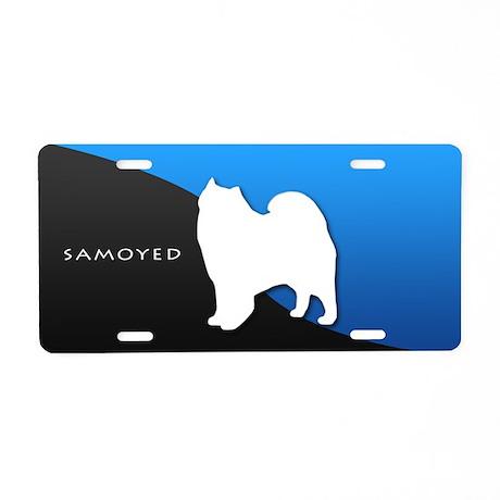 Samoyed Aluminum License Plate