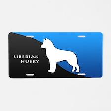 Siberian Husky Aluminum License Plate