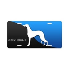 Greyhound Aluminum License Plate