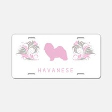 """Elegant"" Havanese Aluminum License Plate"