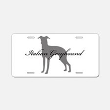 Italian Greyhound Aluminum License Plate