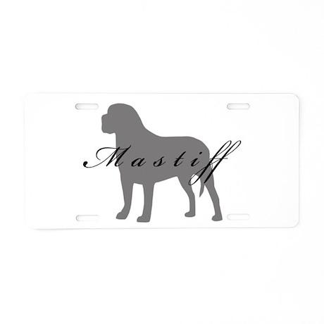 Mastiff Aluminum License Plate