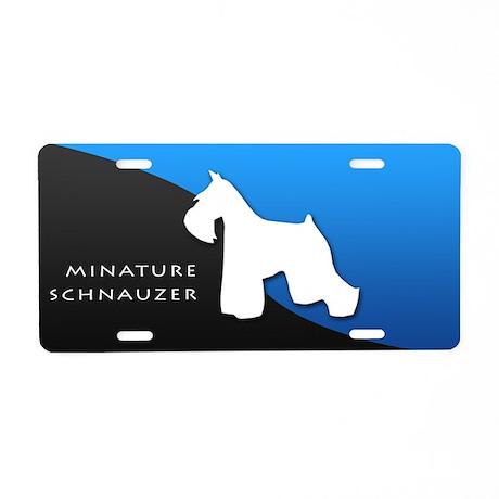 Miniature Schnauzer Aluminum License Plate