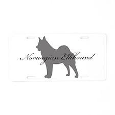 Norwegian Elkhound Aluminum License Plate