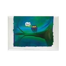 Funny Owl tree Rectangle Magnet