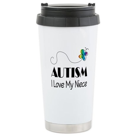 Autism I Love My Niece Stainless Steel Travel Mug