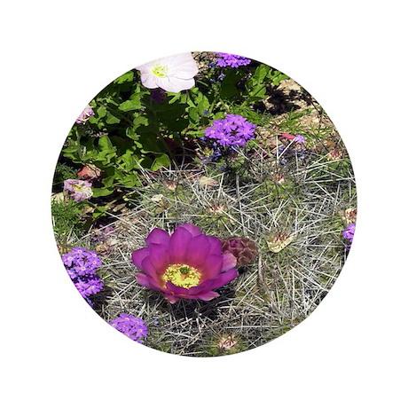 """Desert Flowers 3.5"""" Button"""