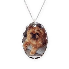 Cute Dog Necklace Oval Charm