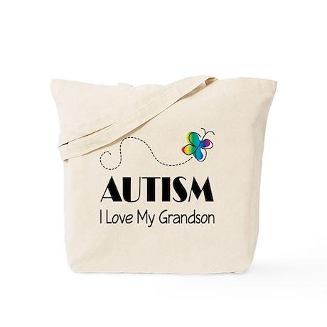 Autism I Love My Grandson Tote Bag