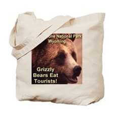 Grizzly Bears Eat Tourists Tote Bag