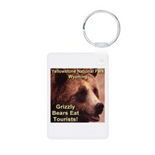 Grizzly Bears Eat Tourists Aluminum Photo Keychain