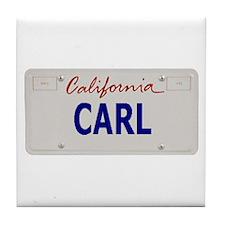 California Carl Tile Coaster