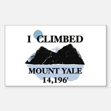 I Climbed Mount Yale Decal