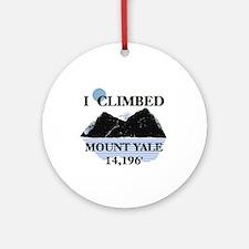 I Climbed Mount Yale Ornament (Round)