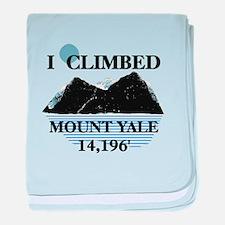 I Climbed Mount Yale baby blanket