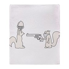 Bad Squirrel Throw Blanket