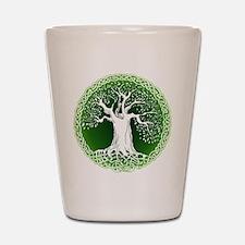 Green2 Celtic Tree Shot Glass