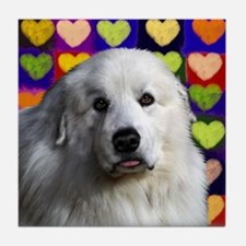 GREAT PYRENEES Dog Love Tile Coaster