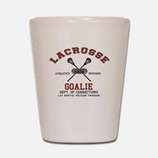 Lacrosse Goalie Shot Glass