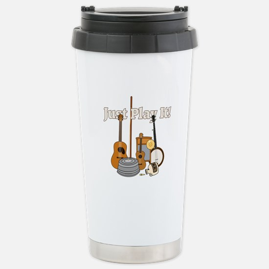 Just Play It! Stainless Steel Travel Mug