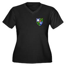 Rangers Women's Plus Size V-Neck Dark T-Shirt