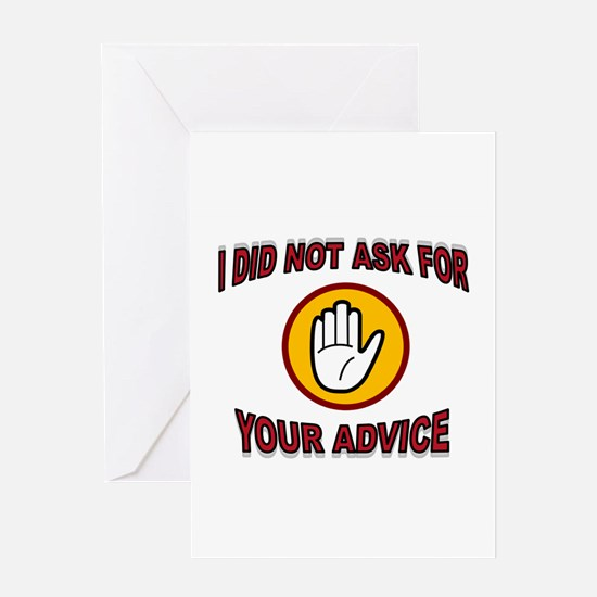 NO ADVICE AVAILABLE Greeting Card
