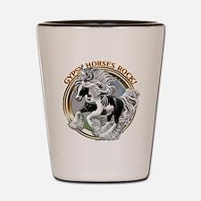 Gypsy Horses Rock Shot Glass