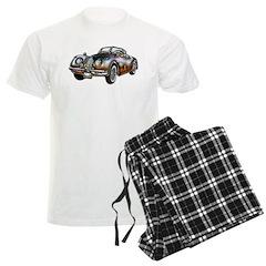 Convertible Metallic Sports Car Men's Light Pajama