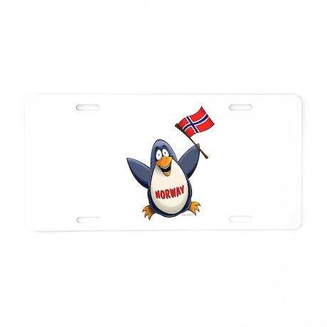 Norway Penguin Aluminum License Plate