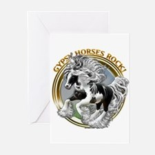 Gypsy Horses Rock Greeting Cards (Pk of 20)