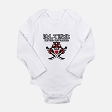 Never Defeated Long Sleeve Infant Bodysuit