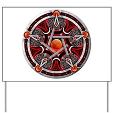 Pentacle of the Red Moon Yard Sign