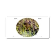 Spider in a web 9R30D-008 Aluminum License Plate