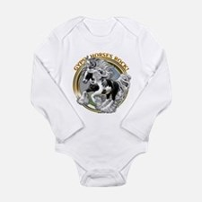 Gypsy Horses Rock Long Sleeve Infant Bodysuit