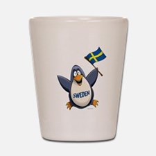 Sweden Penguin Shot Glass