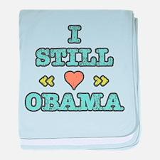 Still Heart Obama baby blanket